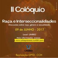 II Colóquio de Raça e Interseccionalidades acontecerá na UNIRIO
