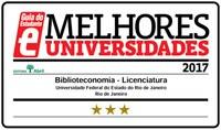 O curso de Licenciatura em Biblioteconomia recebeu o Selo de Qualidade com as Estrelas do Guia do Estudante