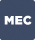 Quadrado com fundo azul escuro e bordas arredondadas com a descrição MEC na cor branca