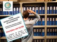 Últimos dias de inscrições para o Curso de Gestão e Classificação de Documentos