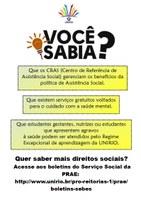 Boletins do Serviço Social da PRAE