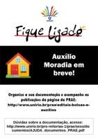 Em breve: Edital do Auxílio Moradia da PRAE