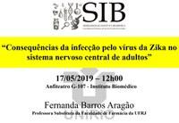 Consequências do vírus da Zika no sistema nervoso de adultos é o tema da discussão do próximo SIB