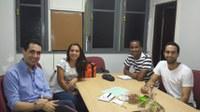 Direção do IB se reúne com Associação Atlética da Biomedicina e traçam planos de integração sócio-cultural para o IB em 2014