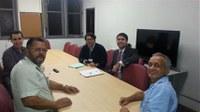 Direção do IB se reune com Gerente e Supervisor da Empresa Confederal para tratar da segurança no Instituto