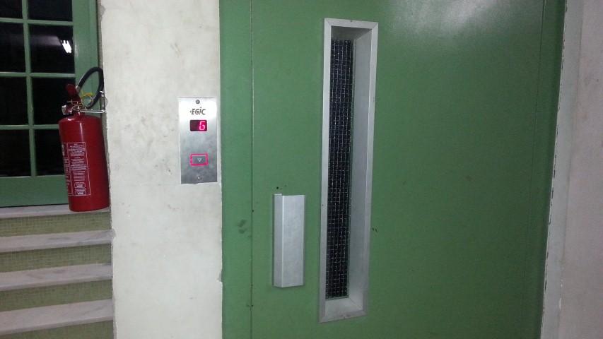 Elevador do Bloco A já pode ser chamado externamente no 7o andar