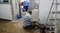 Equipe de Manutenção do IB inicia preparação dos ambientes para as salas A-202, A-203, A-204 e A-205