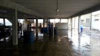 Estacionamento coberto é preparado para o início dos trabalhos que originarão o Almoxarifado Setorial do IB