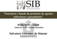 Estrutura e função de proteínas de agentes infecciosos e parasitários é o tema da discussão do próximo SIB