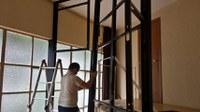 Iniciada a construção da copa e camarim do Anfiteatro Geral (sala A-209)