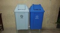 Iniciada a instalação física dos coletores de resíduos que serão utilizados na Coleta Seletiva