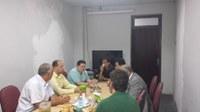 Reitor visita o IB e se reúne com Direção e algumas Chefias da unidade