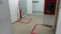 Implementada substituição de mangueiras e ajustamento do sistema de controle de incêndio