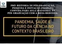 Aula inaugural da pós-graduação da UNIRIO terá debate sobre pandemia, saúde e futuro da ciência
