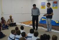 Biblioteca recebe  vice-reitor Ricardo Cardoso para encontro com o autor