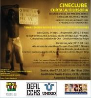 Cineclube Curta a Filosofia tem sessão nesta sexta-feira, dia 7