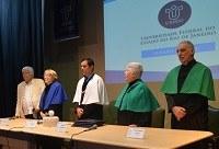 Em cerimônia solene, UNIRIO entrega títulos de Doutor Honoris Causa a quatro homenageados