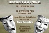 Fábrica de Cuidados oferece curso livre de teatro: inscrições começam nesta segunda-feira, dia 21