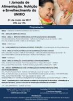 'I Jornada de Alimentação, Nutrição e Envelhecimento da UNIRIO' acontece nesta quarta-feira, dia 31 de maio