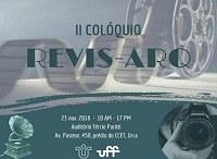 II Colóquio REVIS-ARQ acontece no dia 23 de novembro: inscrições abertas