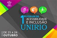 Inscrições abertas para o I Fórum de Acessibilidade e Inclusão da UNIRIO