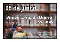 Nota do reitor Luiz Pedro San Gil Jutuca: 39 anos da UNIRIO