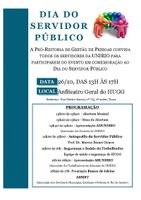 Progepe promove evento em comemoração ao Dia do Servidor