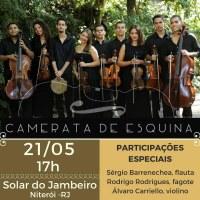 Projeto Música Itinerante da UNIRIO  promove recital com o grupo Camerata de Esquina, no dia 21 de maio