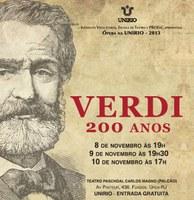 Projeto Ópera na UNIRIO estreia espetáculo 'Verdi 200 anos'