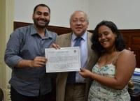 Reitor recebe representantes do Diretório Acadêmico de Direito