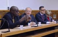 Professores e dirigentes da UNIRIO se reúnem com comitiva da Universidade Pedagógica de Moçambique
