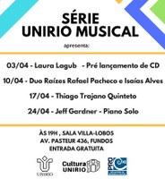 Série UNIRIO Musical promove evento com o Duo Raízes Rafael Pacheco e Isaías Alves