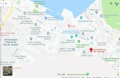 Mapa da UNIRIO localização