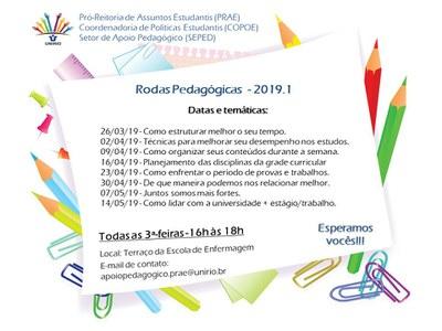 Rodas Pedagógicas 2019.1