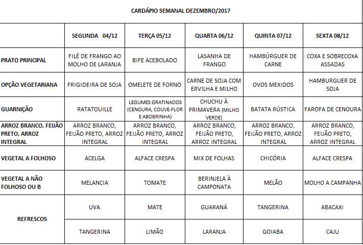 CARDÁPIO 04-12 A 08-12-17 ALTERADO