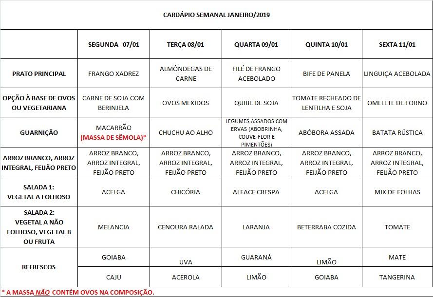 cardápio 07-01 a 11-1-19