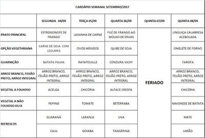 cardápio 04-09 a 08-09-17