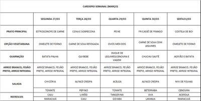 cardápio 27 a 31-03-2017