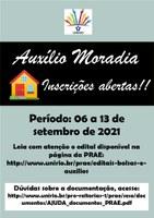 PRAE divulga abertura do Edital do Auxílio Moradia 2021.2