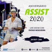 Live Show com Diogo Nogueira no dia 28 de outubro em comemoração ao Dia do Servidor Público