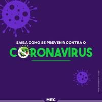 MEC e MS promovem campanha de prevenção ao Coronavírus nas IFES