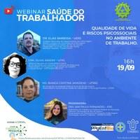 PPgEnfBio promove Webinar Saúde do Trabalhador, no dia 19