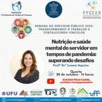 PROGEPE e PPGSAN convidam para live sobre Nutrição e Saúde Mental no dia 28 de outubro