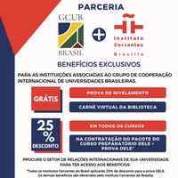 Benefícios oferecidos pelo Instituto Cervantes às instituições associadas ao GCUB