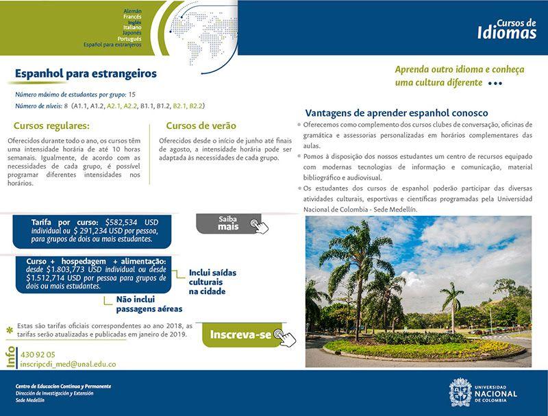 Espanhol para Estrangeiros - Universidad Nacional de Colombia