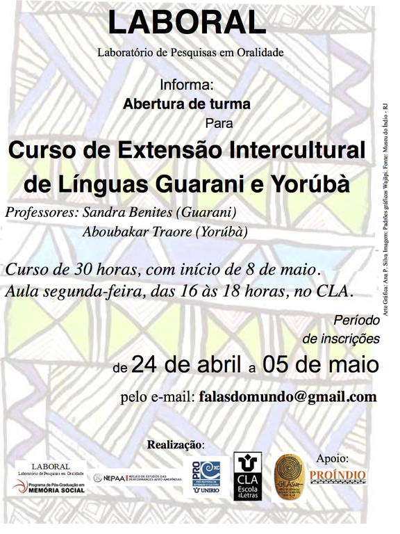 Curso de Extensão Intercultural de Línguas