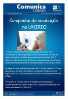 Campanha de vacinação da gripe na UNIRIO
