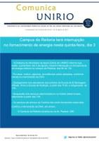 Comunica UNIRIO: Campus da Reitoria terá interrupção no fornecimento de energia nesta quinta-feira, dia 3