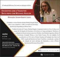 Convite da Biblioteca Nacional : Encontro com o Tradutor | Bate-papo com Michael Kegler