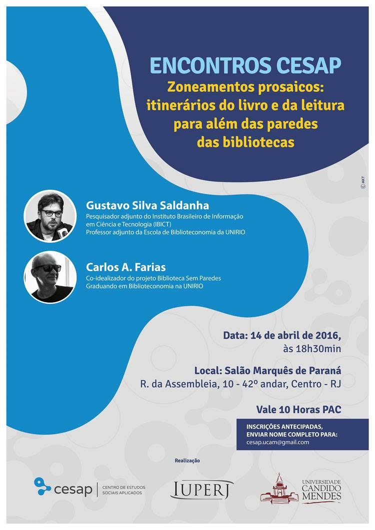 Encontros CESAP – Zoneamento Prosaicos: itinerários do livro e da leitura pra além das paredes das bibliotecas